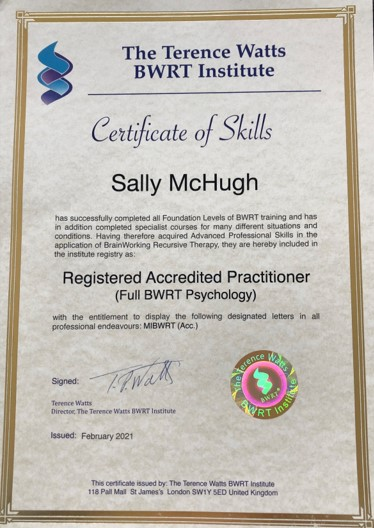 BWRT registered accredited practitioner